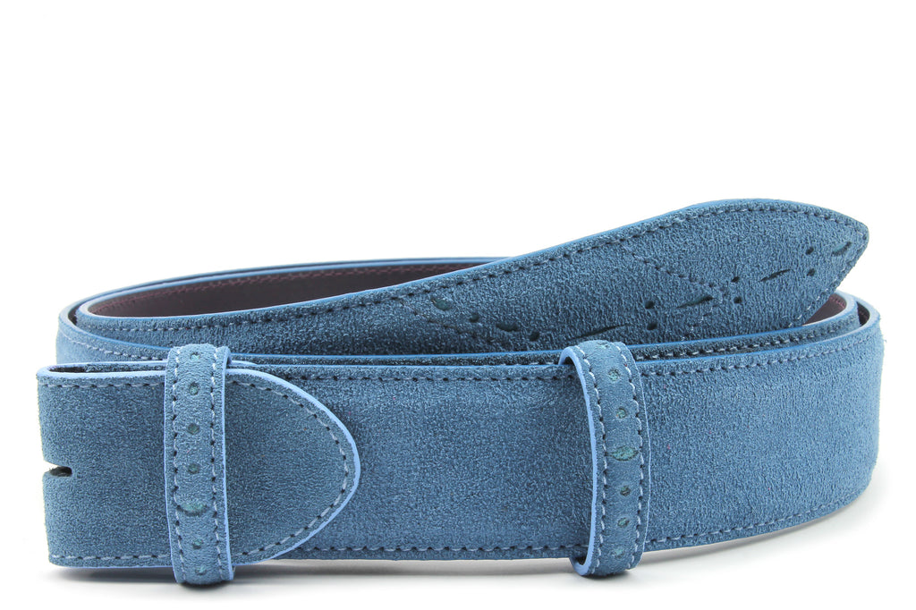 Sinatra Denim & Pale Blue Mix Suede Belt Strap