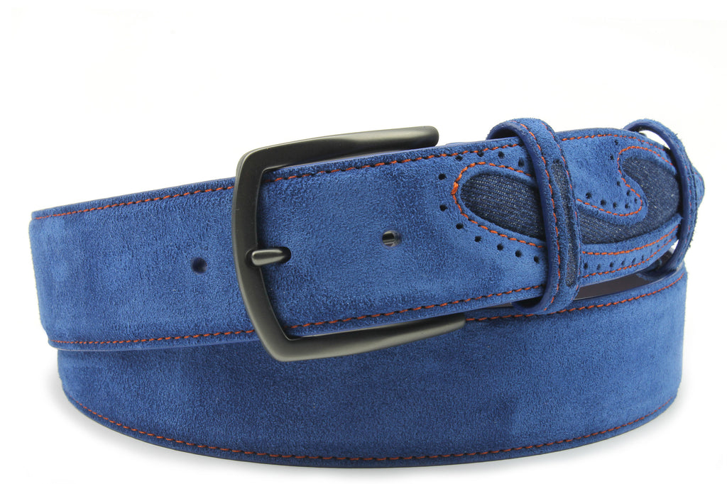 Silverado Ink Suede Denim Insert Belt