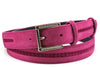 Hot Pink Pfeiffer Suede Insert Swarovski Narrow Belt