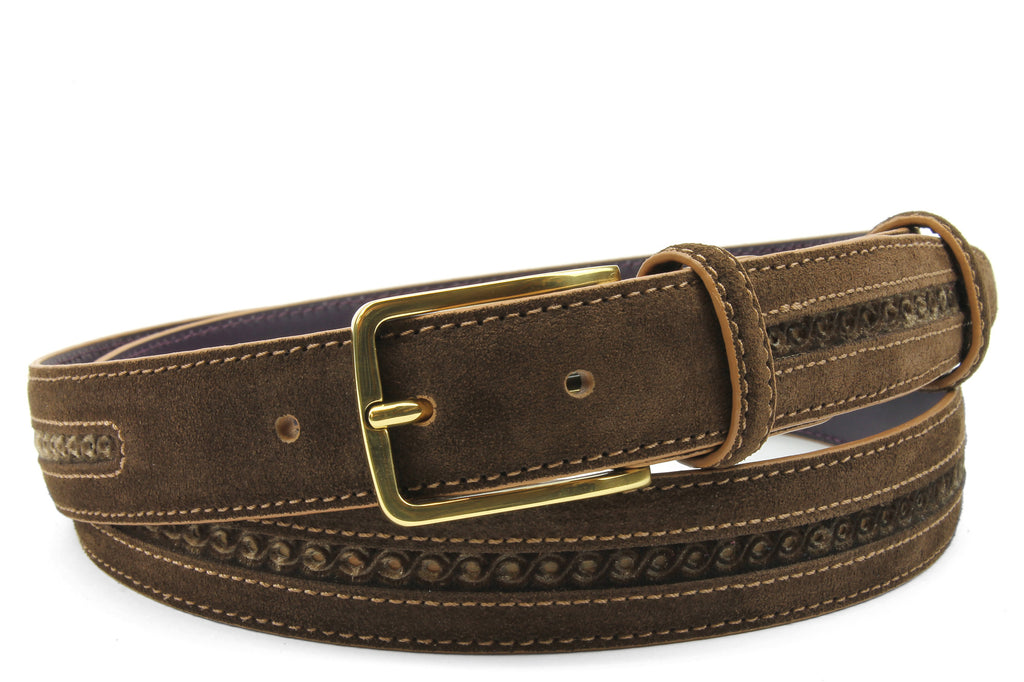 Dark Brown Pfeiffer Suede / Velvet Belt