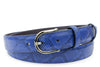Electric Blue Narrow Mock Python Belt