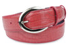 Winter Pink Mock Croc C Prong Belt