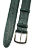 Dark Green Mock Croc Satin Gunmetal Belt