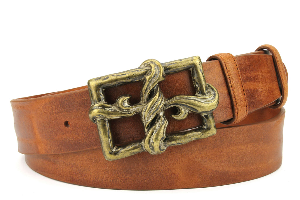 Chestnut Vintage Feel Ribbon Cross Belt