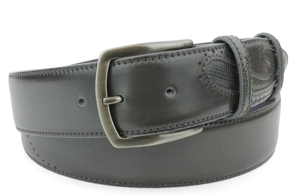 Asphalt Grey Silverado Gunmetal Buckle Belt