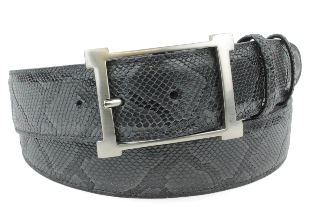 Anthracite Mock Python Open Frame Belt