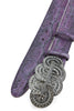 Grape Metallic Python Effect Deco Belt