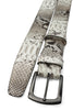 Roccia Toned Genuine Python Gunmetal Belt