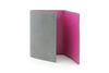 Dove Grey with fuchsia mock iguana Chelsea card holder