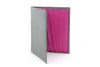 Dove Grey with Fuchsia mock iguana Holland Park wallet