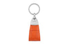 Zinnia orange mock crocodile Triangle keychain