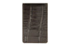 Dark brown mock crocodile Mayfair travel card holder