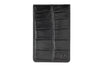 Black mock crocodile Mayfair travel card holder