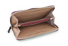 Burgundy mock iguana continental purse