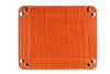 Zinnia orange mock crocodile occasional tray