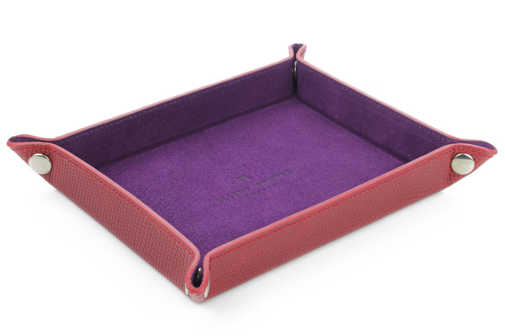 Red mock iguana occasional tray