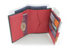 Red mock iguana travel wallet