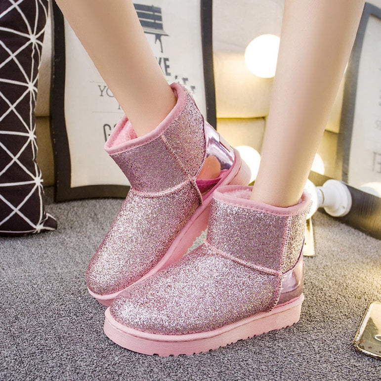 Classic Slip On Ankle Snow Boots