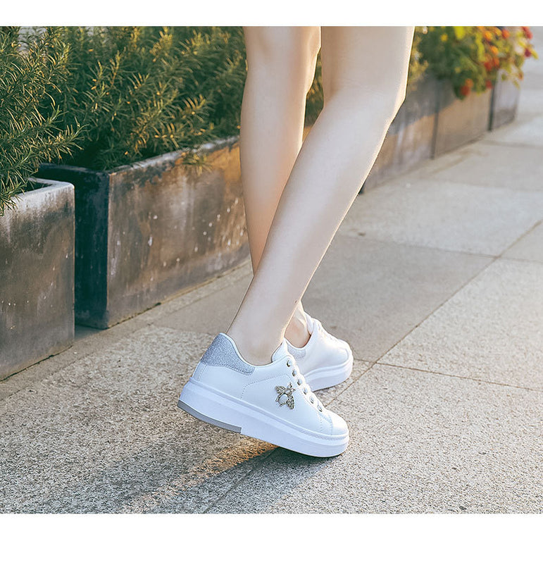 Leather Casual Breathable Sneakers