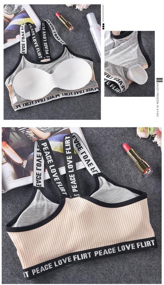 Push Up Underwear Cotton Bra Top