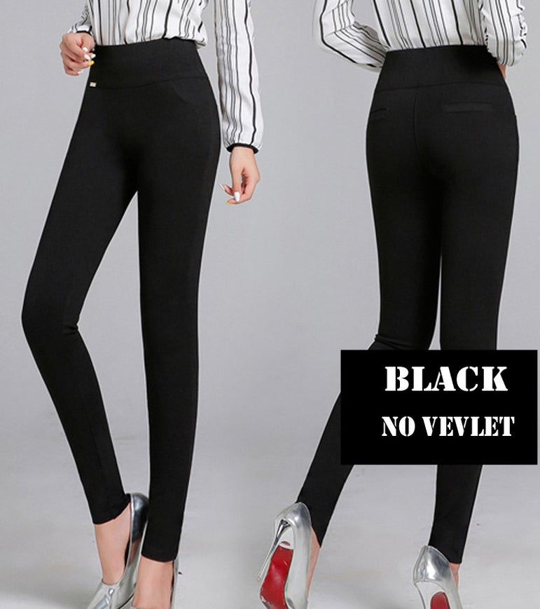 Casual High Elastic Waist Stretch Skinny Pencil Pants