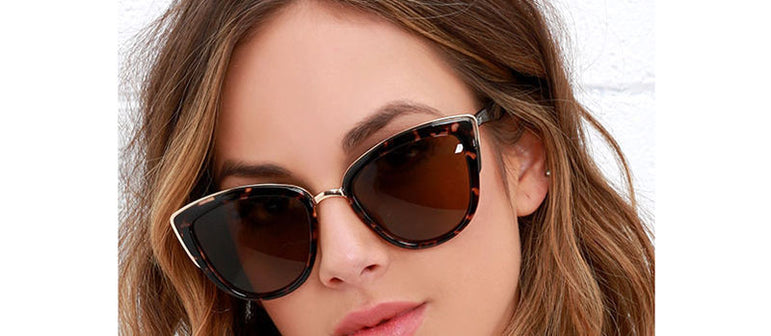 Vintage Metal Cat Eye  Retro Sunglasses