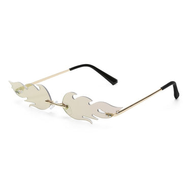 Rimless Wave Fire Flame Sunglasses