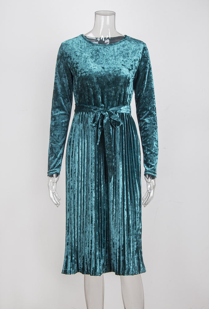 Vintage Long Sleeve Velvet Dress