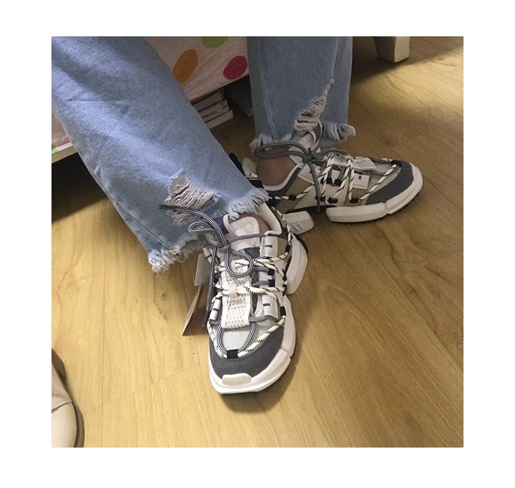 Chunky Height Increasing shoes woman sneakers