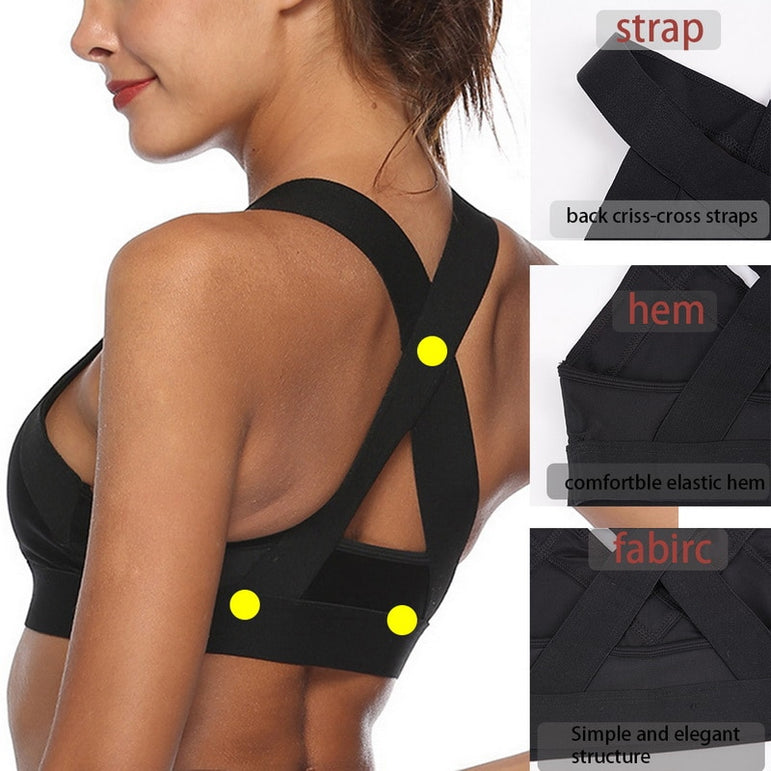 Push Up Mesh Brathable Sports Top