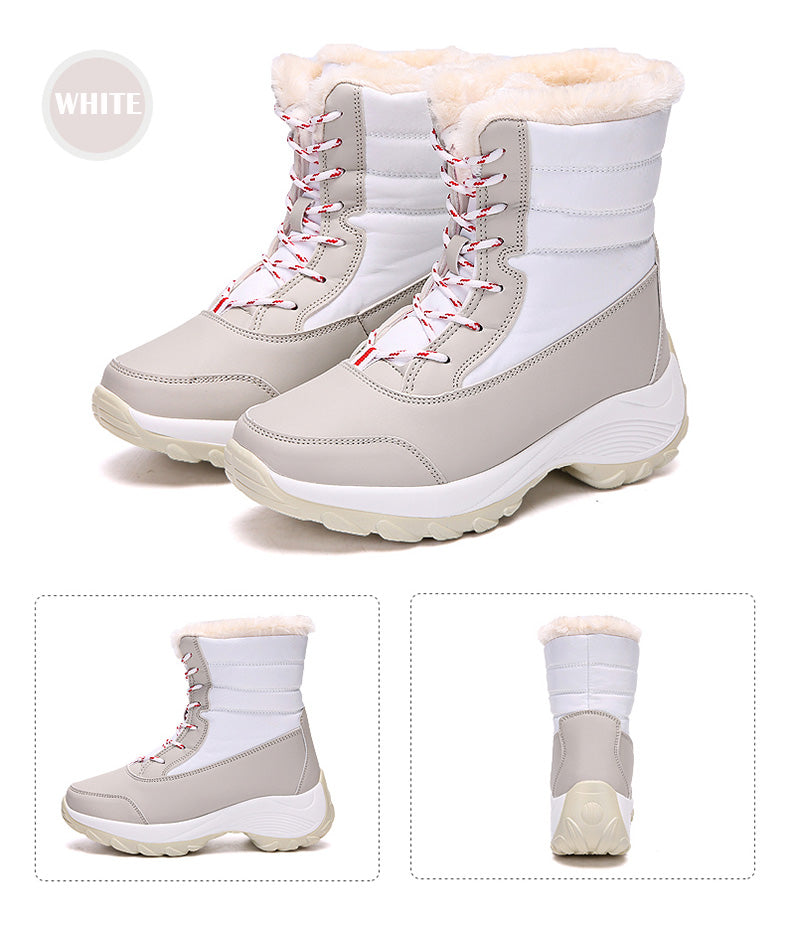Thick Fur Waterproof Non Slip Snow Boots