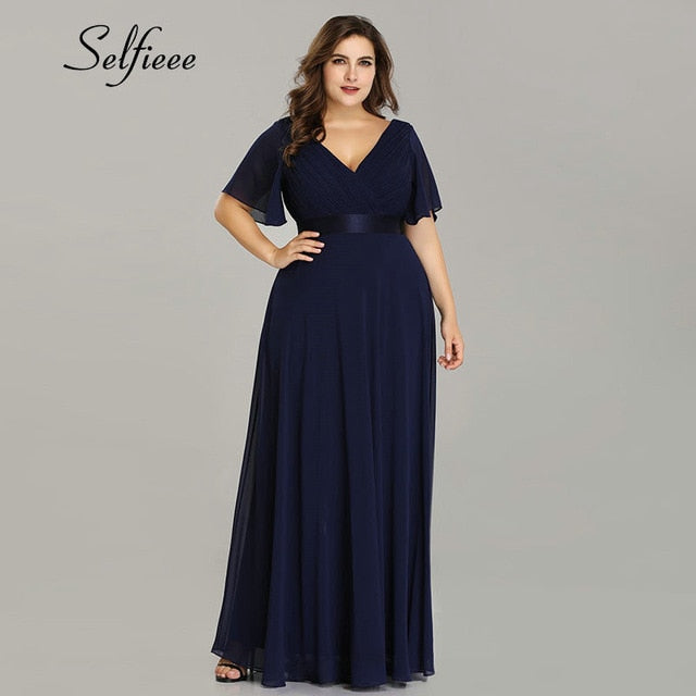 Elegant Chiffon Party Night Robe Dress