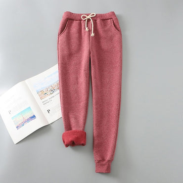 Thick Velvet Cashmere Winter Harem Warm Pants