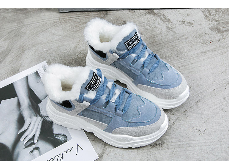 Suede Leather Snowboots Casual Sneakers