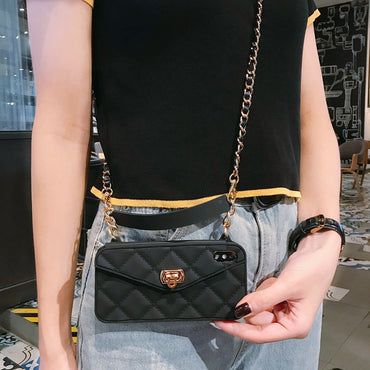 Long Strap Chain Crossbody Wallet