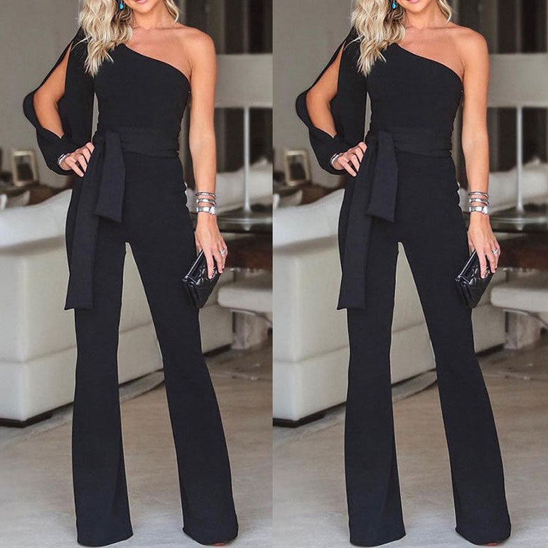 One Shoulder Party Clubwear Jumpsuits