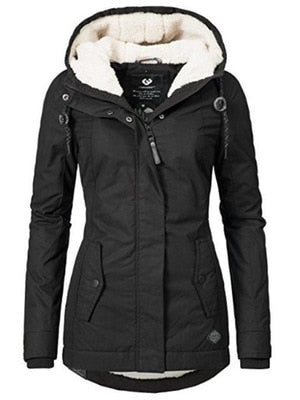 Thick Cotton Warm Parkas Winter Coats Hooded
