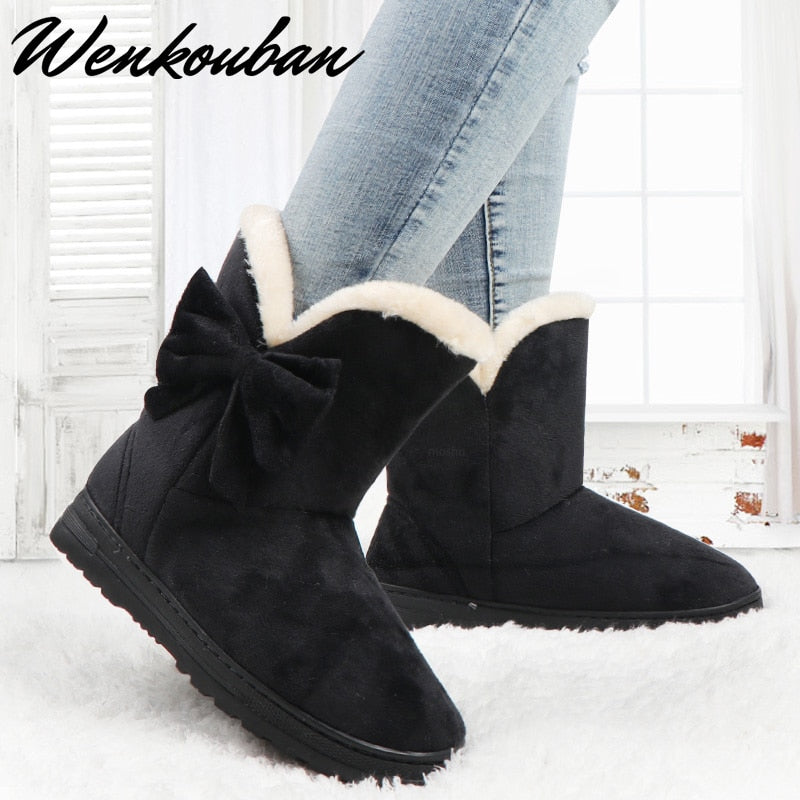 Butterfly Winter  Warm Ankle Boots