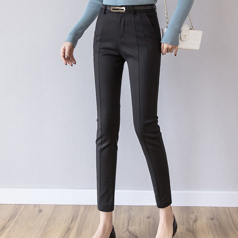 Casual High Waist Elastic Ankle Length Leggings