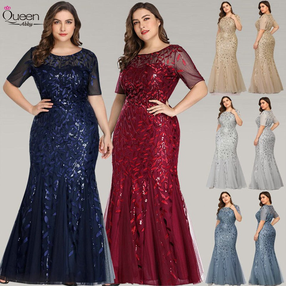 Elegant Queen Evening Mermaid Sequined Dress