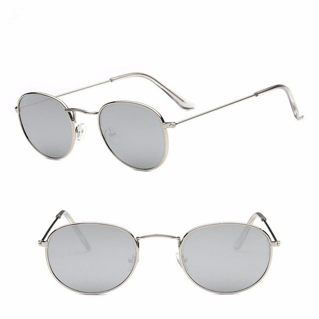 Luxury Vintage Retro Mirror Round Sunglasses