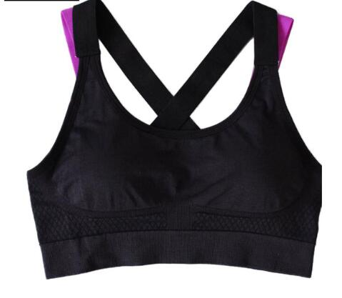 Push Up Shockproof Cross Back Bra Full Cup