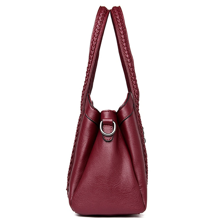 Leather Tote Genuine Shoulder Handbag