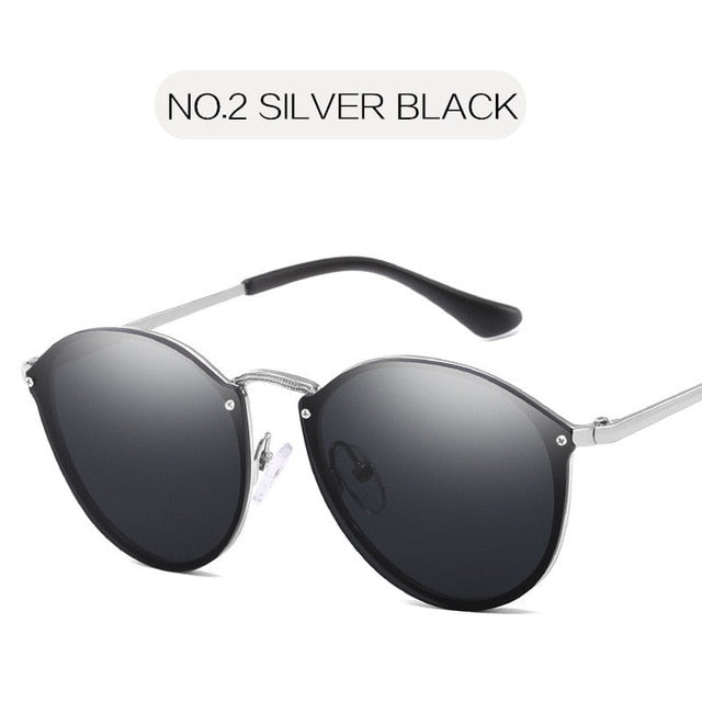 Luxury Coating Mirror Cat Eye Sunglasses