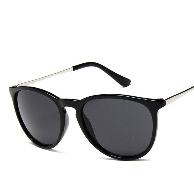 Alloy Mirror Retro Shades Round Sunglasses