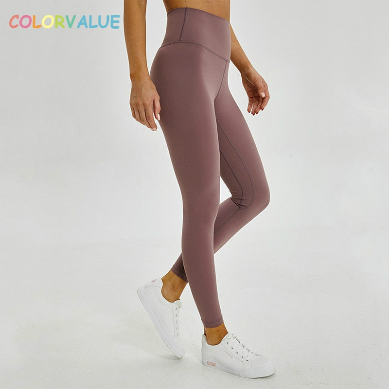 High Waist Yoga Anti Sweat Mention Leggings