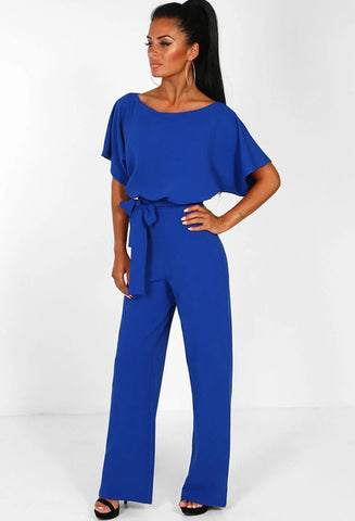 Elegant High Waistl Office Lady Jumpsuits