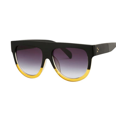 Luxury Flat Top Oversized Retro Sunglasses