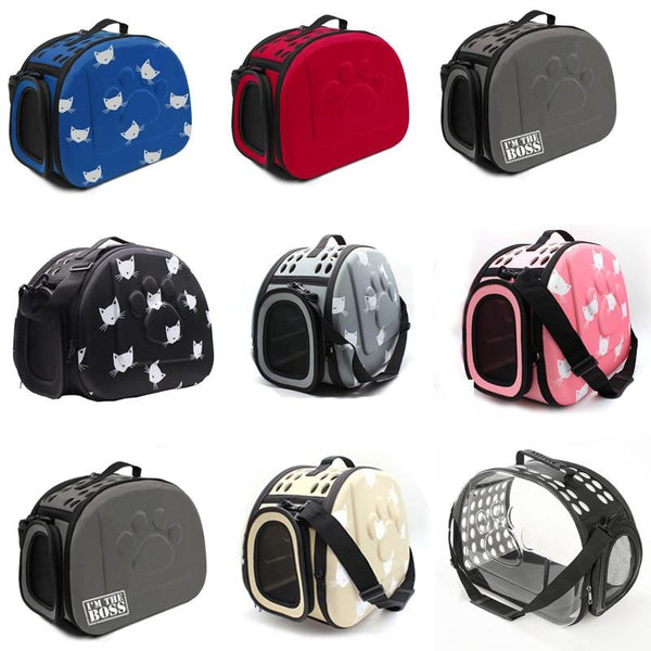 YUYU Cat Carrier Bag Outdoor Dog Carrier Bag Foldable EVA Pet Kennel Puppy Dog Cat Outdoor Travel Shoulder Bag for Small Dog