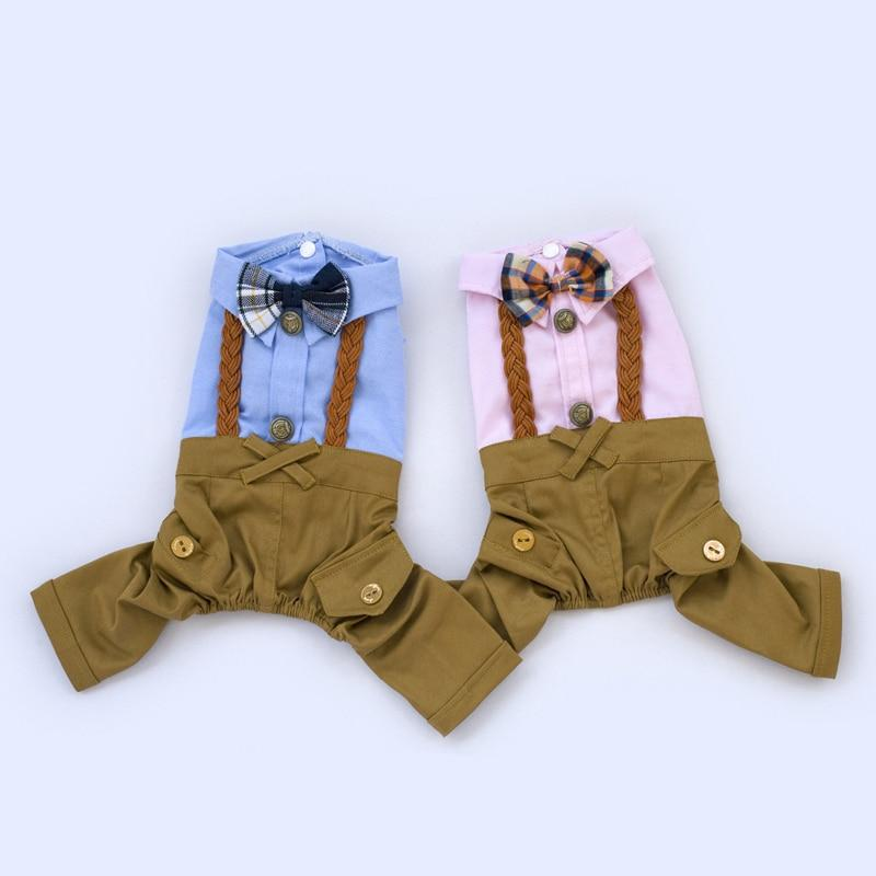Cool Dog Clothes Bow Dog Jumpsuit Romper Spring Pet Coat Jacket Wedding Pet Costume Chihuahua Clothing for Small Dogs 30